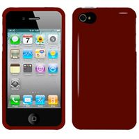 Amzer Injecto Snap On Hard Case for iPhone 4S,  red