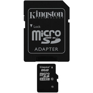 Kingston 8GB MicroSDHC Class 10 (48MB/s) UHS-I Memory Card (With Adapter)