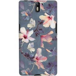 DailyObjects Butterflies And Hibiscus Flowers Case For OnePlus One
