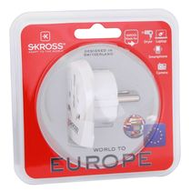 Skross World To Europe Adapter,  white