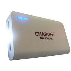 Chargit 6600mAh Power Bank,  white