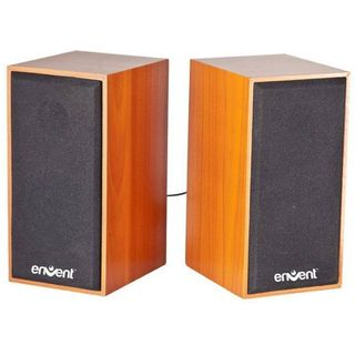Envent Truewood 210 Portable Laptop/Desktop Speaker, brown