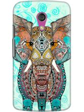 DailyObjects Boho Summer Elephant Blue Case For Motorola Moto G2