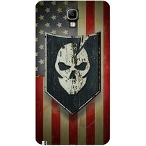 Casotec Skull Flag Design Hard Back Case Cover for Samsung Galaxy Note 3 Neo