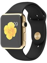 Callmate A1 Bluetooth Smart Watch (Golden with Black Strap)