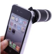 Smiledrive Telescope Camera Lens Kit With Back Case for iPhone 4G/4S - 8X Optical Zoom,  black