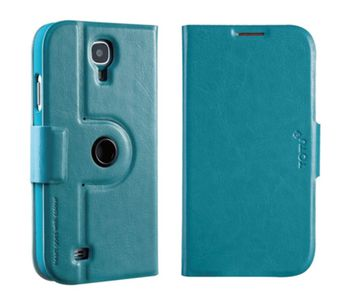 TOTU 360° Rotation Leather Cover for Samsung Galaxy S4,  blue