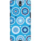 DailyObjects Blue Flowers Case For OnePlus One