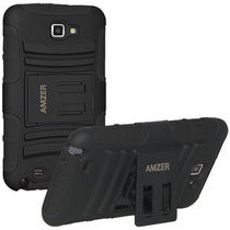 Amzer Hybrid Kickstand Case for Samsung Galaxy Note,  black
