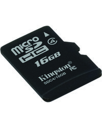 Kingston Micro SD Card, standard-black, 16 gb