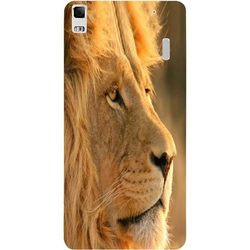 Casotec Lion Design Hard Back Case Cover for Lenovo K3 Note