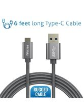 iVoltaa Link Type-C to USB-A 3.1 SuperSpeed[ Gen 1- 5 Gbps - CheckR Passed] Braided 6 Ft/1.8 M Extra Long USB-C Cable for Apple New Macbook Pro LETV Le 1 Pro Max OnePlus 3 Mi5 LeEco 1s LeTV LG Nexus 5X Nexus 6P and Other Type-C Supported Devices Charging,