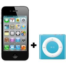 Apple iPhone 4S+ Apple iPod Shuffle 2GB,  black, 8 gb