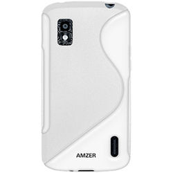 Amzer TPU Hybrid Case - for Google Nexus 4 E960, standard-white, 0