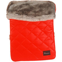 Ducasso Tear Resistant iPad Soft Fur Sleeve Case, 0,  red