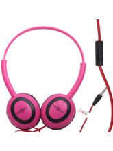 Callmate Headphone Oval With Mic - Pink