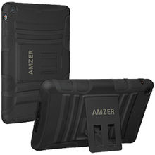 Amzer Hybrid Kickstand Case for Apple iPad Mini, standard-black, 0