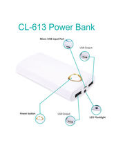 Callmate 20000 mAh CL-613 Power Bank with Two USB Ports
