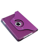 Callmate 360 Rotating Case Cover for Apple iPad Mini 2 with Free Screen Guard, purple