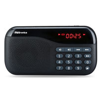 Portronics Plugs Speaker with FM and Memory card Slot,  black