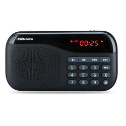 Portronics Plugs Speaker with FM and Memory card Slot,  blue