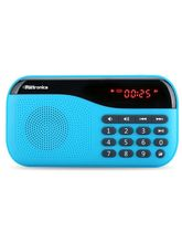 Portronics Plugs Portable Speaker with FM & microSD card support (Blue)