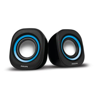 Philips IN-SPA25 Laptop/Desktop Speaker, blue