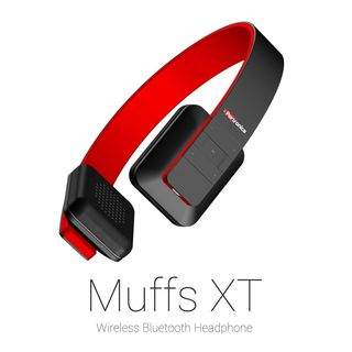Portronics Muffs XT Wireless Bluetooth Headphone (Red)