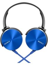 Sony MDR-XB450AP Extra Bass Wired Headphones with Mic (Blue)