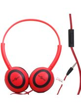 Callmate Headphone Oval With Mic - Red