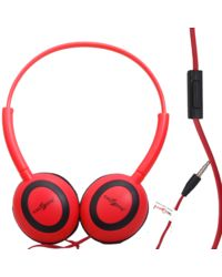 Callmate Headphone Oval With Mic,  red