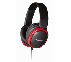 Panasonic RP-HBD250E-K Headphones, Black red