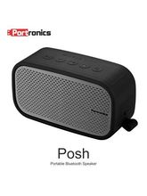 Portronics Posh Water Resistent Bluetooth Speaker (with Aux-in/Mic) - Grey
