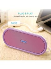 Portronics Sound Bowl USB Speaker (Purple)