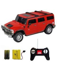 Shopcros R/C Rechargeable 1: 24 Hummer H2 Suv,  red