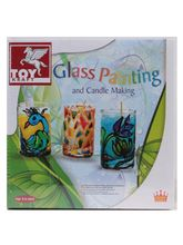 Toy Kraft Glass Painting Candle Kit, multicolor