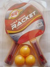 2 Table Tennis Rackets+ 3 balls (Blister Pack) (Multicolor)