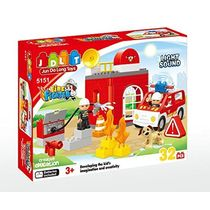 Saffire Fire Fighter Building Blocks With Light And Sound - 32 Pieces, multicolor