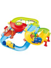 Saffire Classic Toy Train Set 09 with Upper and Lower Level and Bridge, multicolor