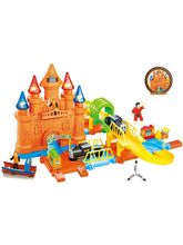 Saffire Pirates Track Combination 28 Train Set with Light Effects, multicolor