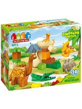 Saffire Creative Education Dinosaur Valley Blocks Set, multicolor