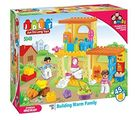 Saffire Warm Family House Construction Set - 45 Pieces, multicolor