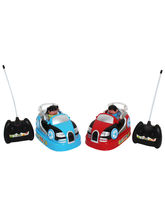 Saffire Rechargeable Bump n Chuck Bumper Cars Toy, multicolor