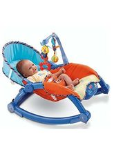 Saffire Newborn to Toddler Portable Rocker, multicolor