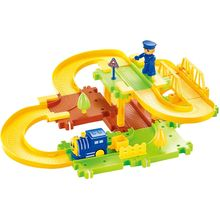 Saffire Happy Commander Train Set with Upper and Lower Level and Bridge, multicolor