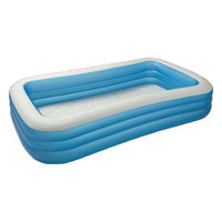 Intex Blue Rectangular Pool (10Ft), multicolor