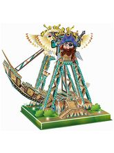 Saffire Swinging Ship 3D DIY Paper Jigsaw Puzzle With Light and Music, multicolor