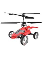 Saffire Mars Strike Transformer Remote Control Helicopter Cum Car, multicolor