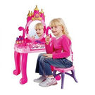 Saffire Vanity Table Set With Piano,  pink