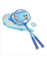 Disney Mickey  Badminton Rackets With 3/4 Cover, One Side Transparent, blue